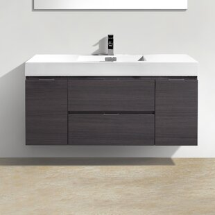 1 Wade Logan Tenafly 48 Single Wall Mount Modern Bathroom Vanity Set