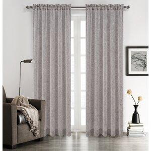 Chloe Solid Sheer Rod Pocket Curtain Panels (Set of 2)