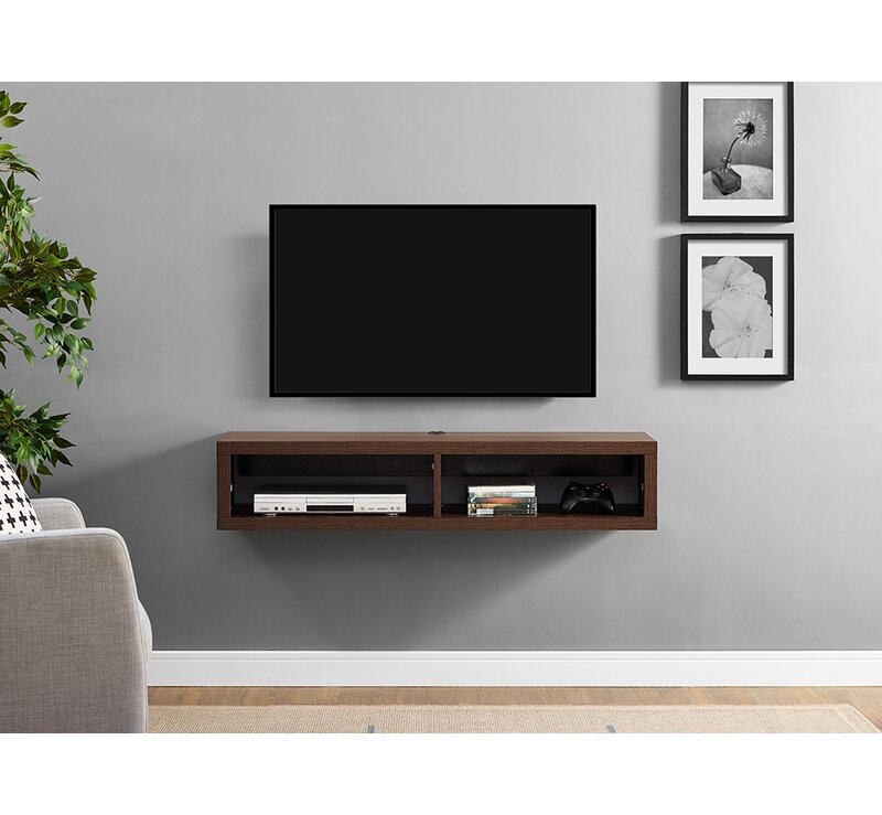 martin home furnishings shallow wall mounted tv stand for tvs up to rh wayfair com wall tv standard height wall tv stand mount