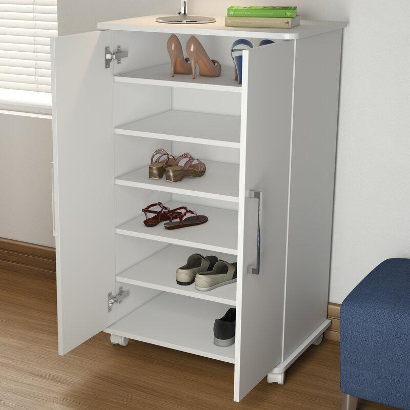 Charmant Mobile 18 Pair Shoe Storage Cabinet