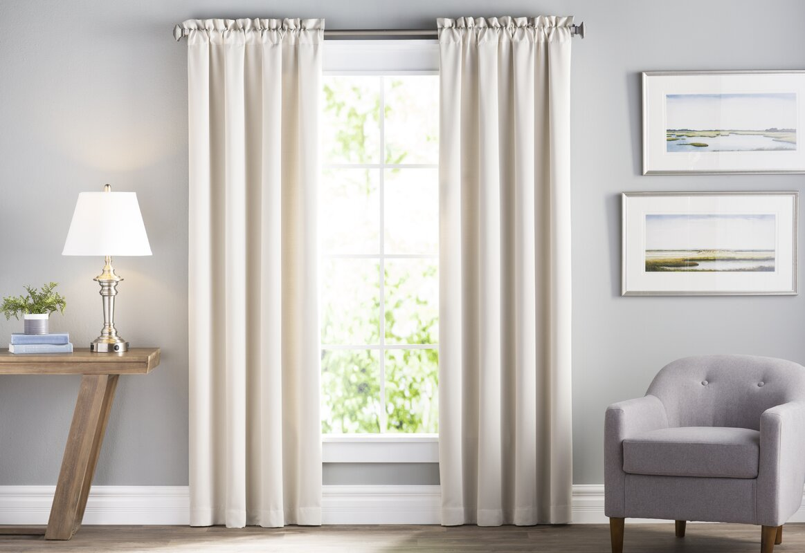 Wayfair Basics Solid Room Darkening Rod Pocket Curtain Panel Pair