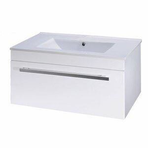 Premier Einzelwaschbeckenunterschrank-Set Minimalist mit Waschbecken in Weiß