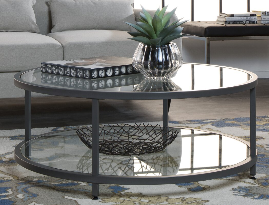 Round coffee tables youll love wayfair camber coffee table geotapseo Choice Image