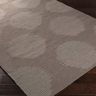 Donley Charcoal Gray Geometric Area Rug ByWrought Studio