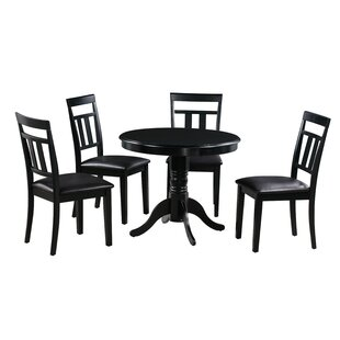 Johan 5 Piece Solid Wood Dining Set