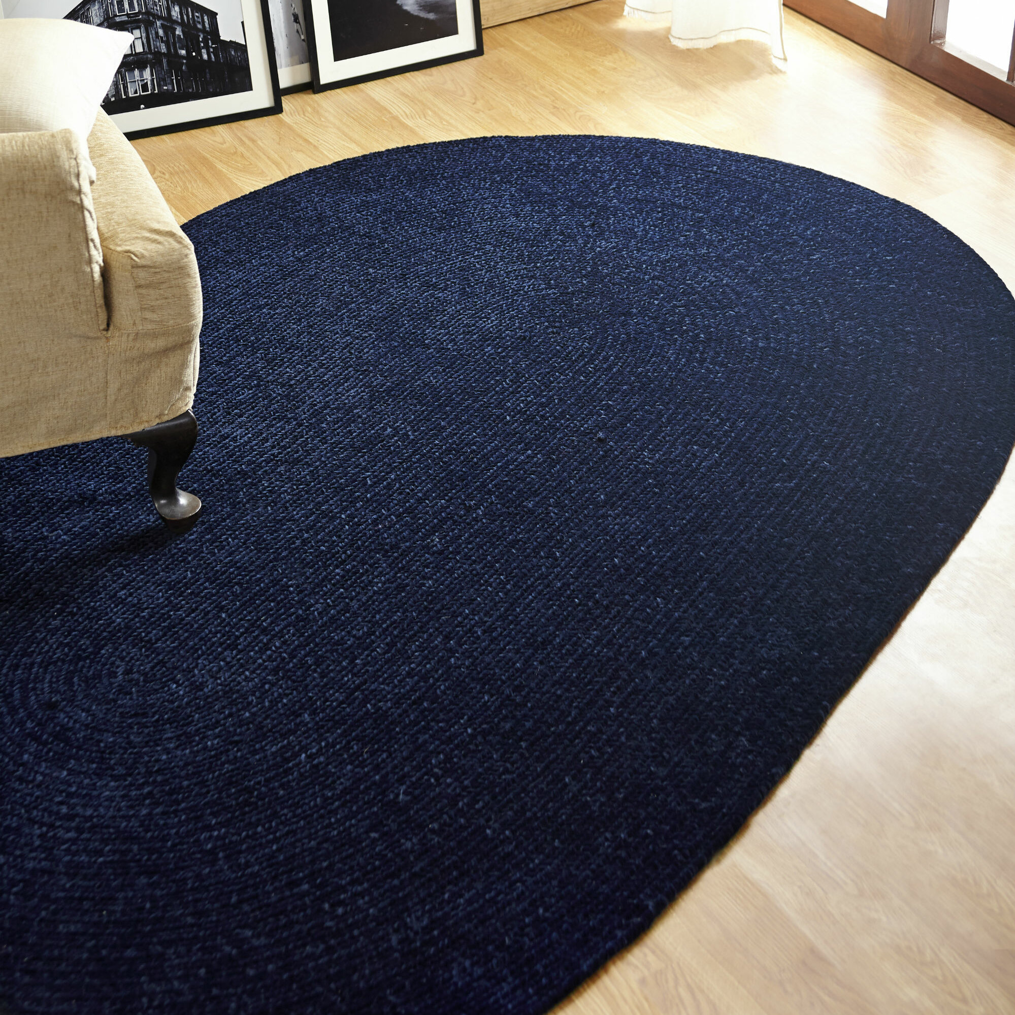 Better Trends Chenille Reversible Dark Blue Indoor Outdoor Area Rug Wayfair