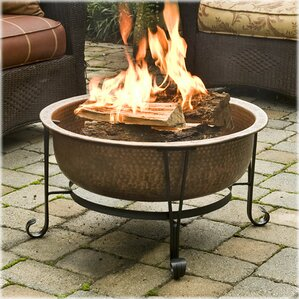 vintage copper wood burning fire pit