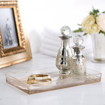 mercury glass vanity bathroom accessory tray - Bathroom Accessories Vanity Tray