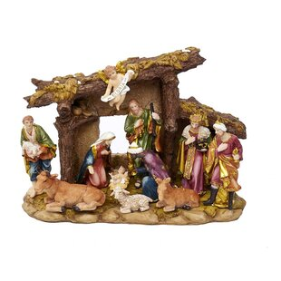 11 piece figures and stable nativity set