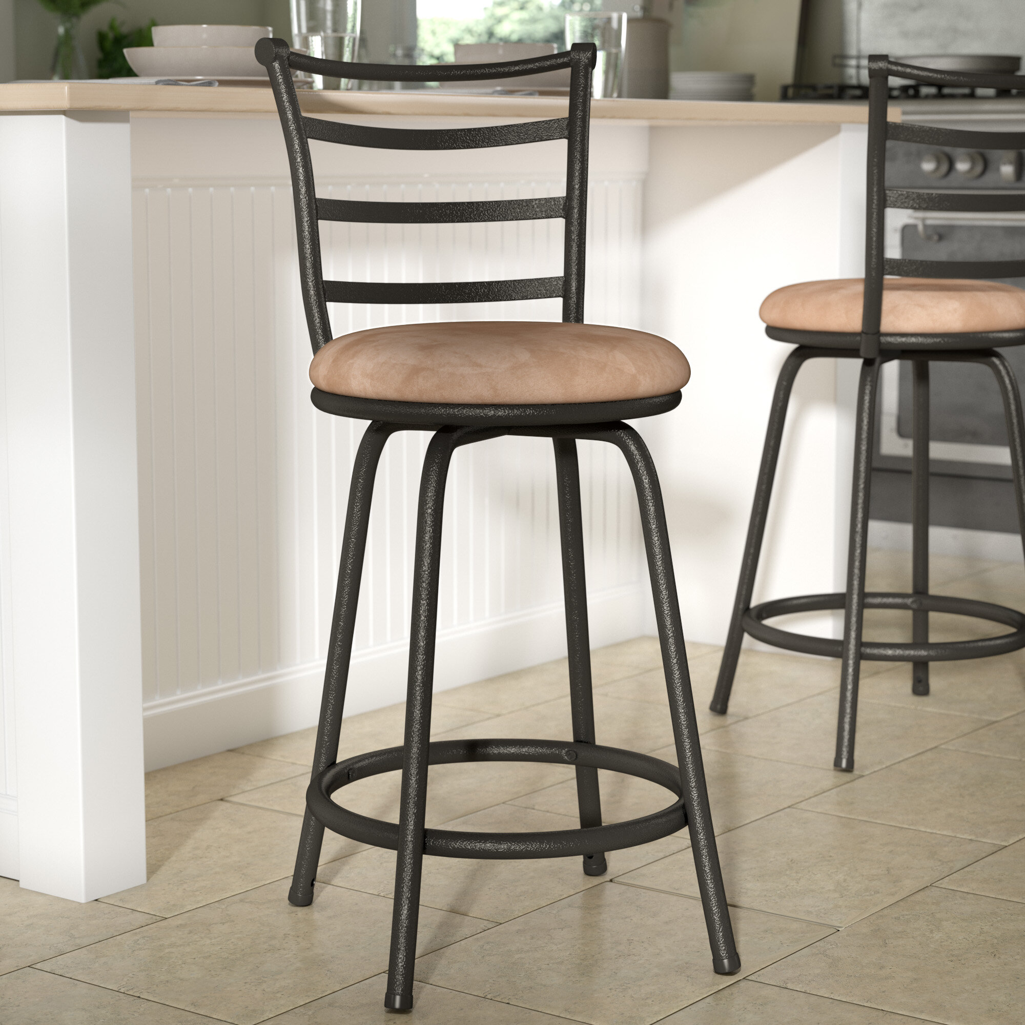Zipcode Design Deandre Adjustable Height Swivel Bar Stool U0026 Reviews |  Wayfair