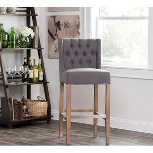 Awe Inspiring Grey Tufted Counter Stools Wayfair Ibusinesslaw Wood Chair Design Ideas Ibusinesslaworg