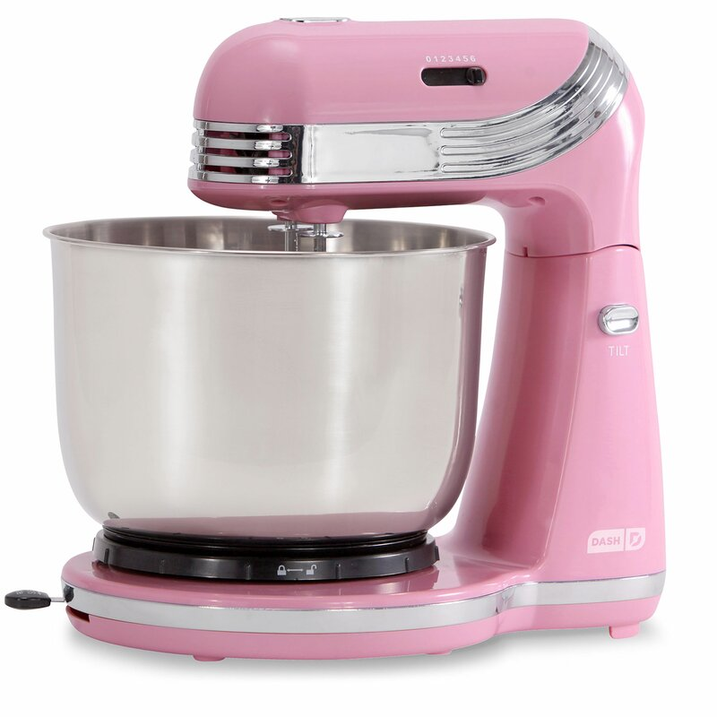 DASH Everyday 6 Speed 2.5 Qt. Stand Mixer  Color: Pink