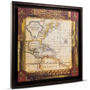 World map push pin wayfair old world map painting print on canvas gumiabroncs Gallery