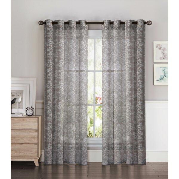 Window Elements Garden Nature/Floral Semi Sheer Grommet Single Curtain  Panel U0026 Reviews | Wayfair