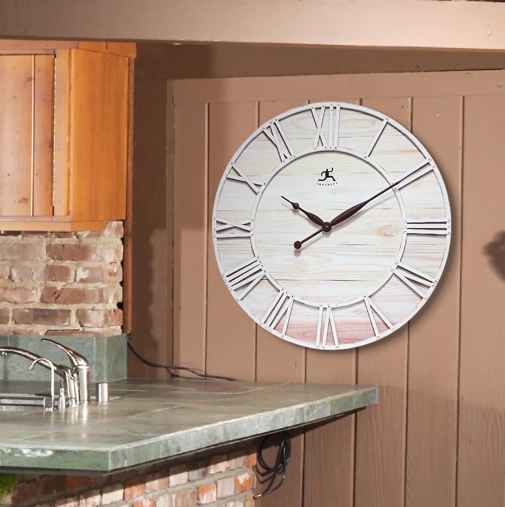 Oversized Farmhouse Fusion 28 Wall Clock