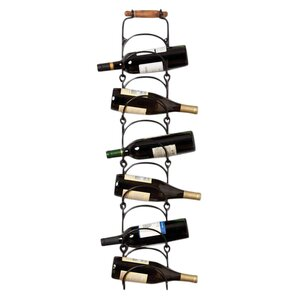6 Bottle Wall Mounted Wine Rack by Cape C..
