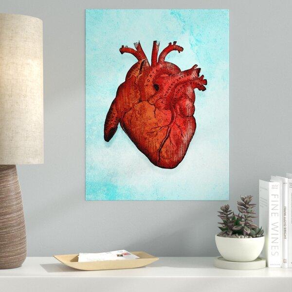 Ebern Designs \'Heart Anatomy\' Graphic Art Print on Canvas | Wayfair