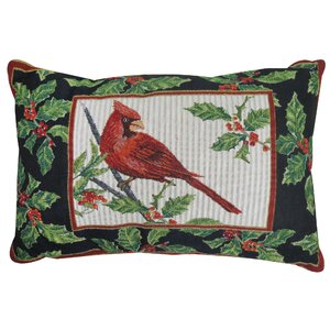 Vintage House Cardinal Tapestry Throw Pillow