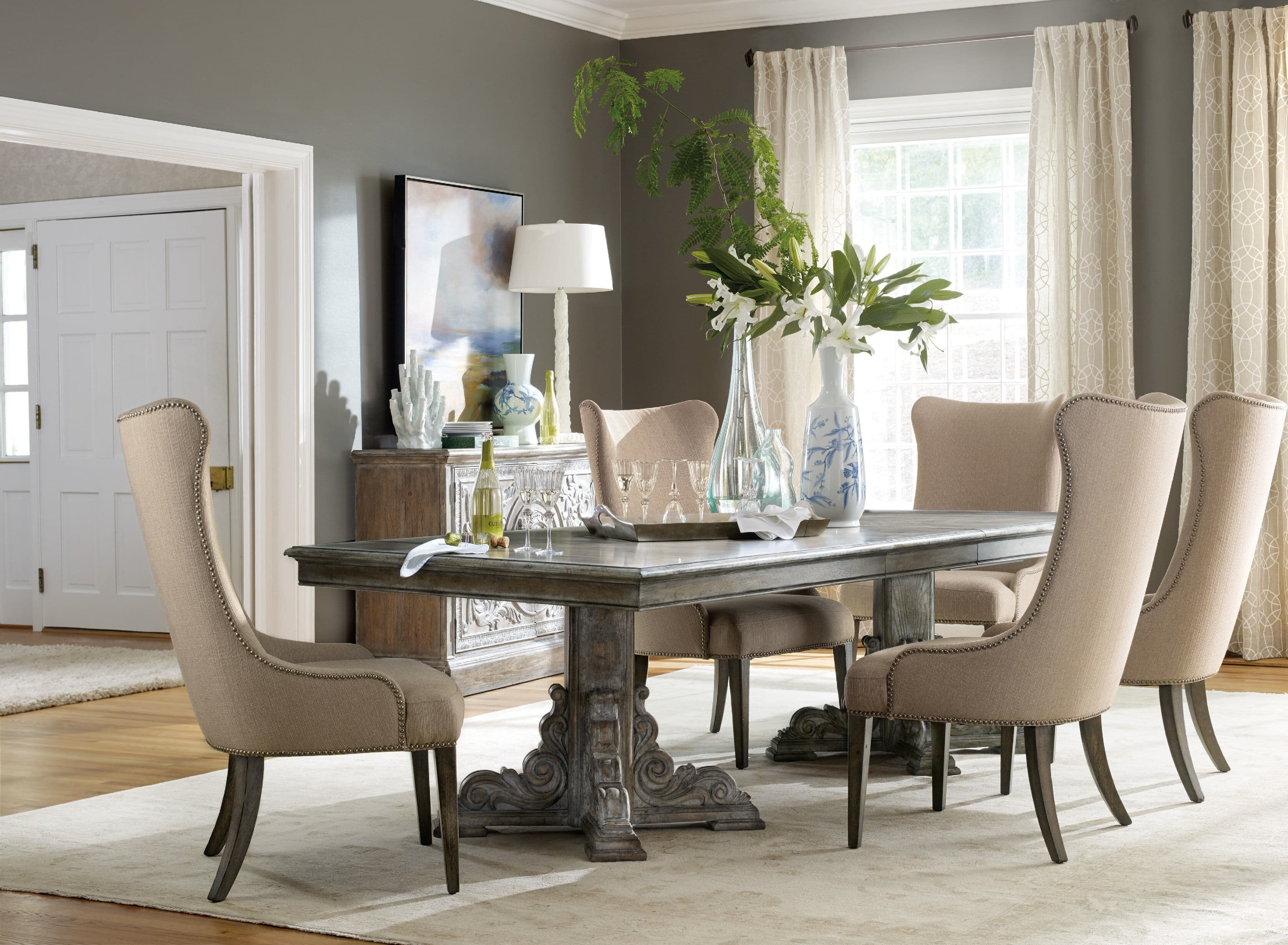 Hooker furniture true vintage 3 piece extendable dining table set reviews wayfair