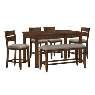 Faizan 5 Piece Counter Height Dining Set