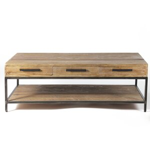 Elegant Reclaimed 6 Drawer Coffee Table by Design Tree Home