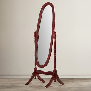 Oval Wood Floor Mirror