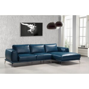 Owensby Bonded Leather Sectional by Orren El..