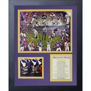 Minnesota Vikings Viking Greats Framed Memorabili  sc 1 st  Wayfair & Minnesota Vikings Chair | Wayfair