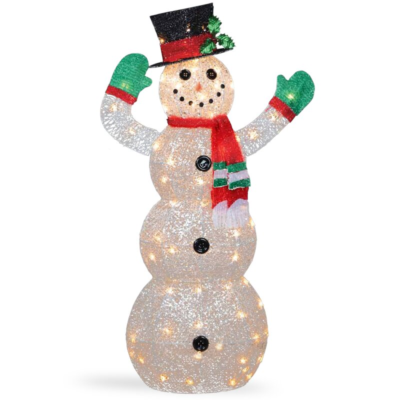 The holiday aisle crystal snowman christmas indoor outdoor for Professional outdoor christmas decorations