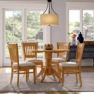 Chesterton Transitional 5 Piece Drop Leaf Solid Wood Dining Set