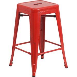 Lompoc 24  Bar Stool  sc 1 st  AllModern & Modern Red Bar Stools + Counter Stools   AllModern islam-shia.org