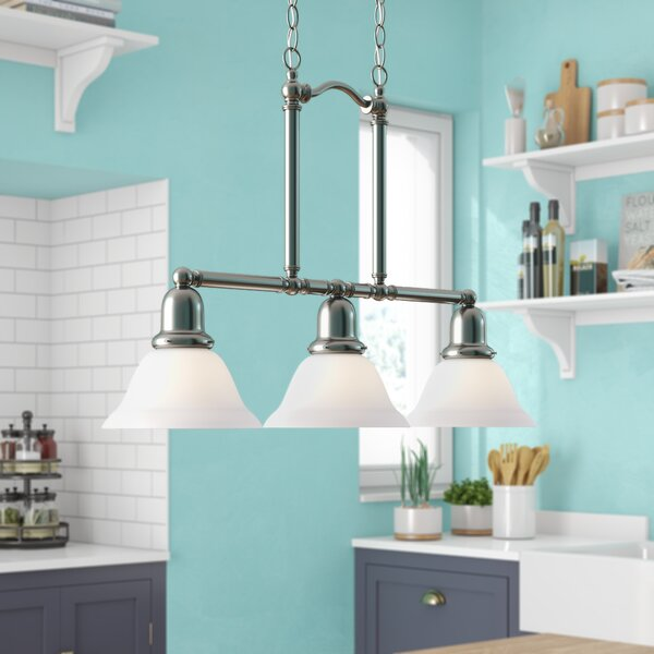 Darmstadt 3-Light Chain Kitchen Island Pendant & Reviews