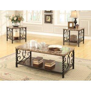 Lara 3 Piece Coffee Table Set