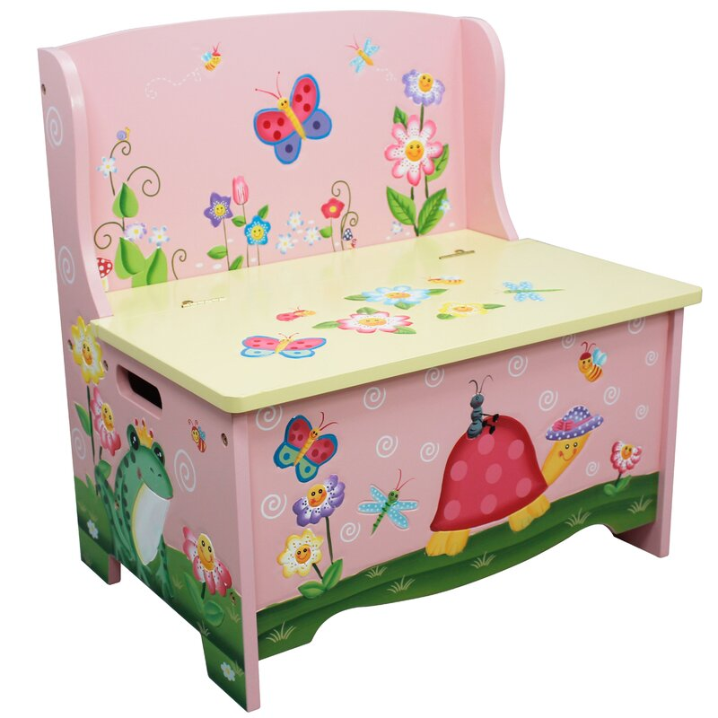 Fantasy Fields Magic Garden Wooden Toy Storage Bench & Reviews | Wayfair