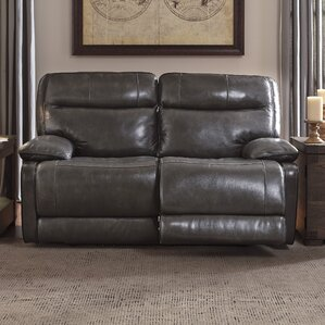 Gigi Leather Reclining Loveseat by Trent Aus..
