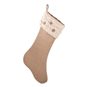 Ruffle Design Jute Stocking