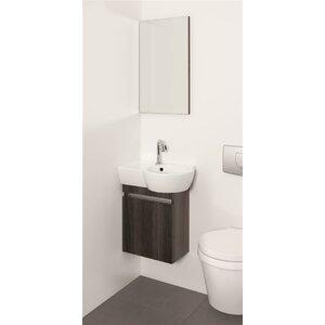 Belfry Bathroom 49,5 cm Wandmontierter Waschtisch Aico mit Spiegel und Aufbewahrungsschrank