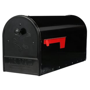Outback Double Door Steel Post Mounted Mailbox