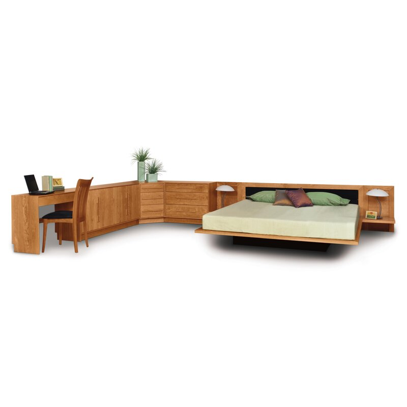 Built bedroom furniture moduluxe High Plinth Moduluxe Upholstered Platform Bed Lumens Lighting Moduluxe Upholstered Platform Bed Allmodern