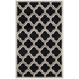 Maritza Black/Gray Indoor/Outdoor Area Rug