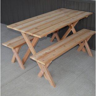 Wood Picnic Tables Youu0027ll Love | Wayfair