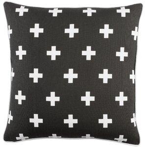 Antonia Cross Cotton Throw Pillow Cover