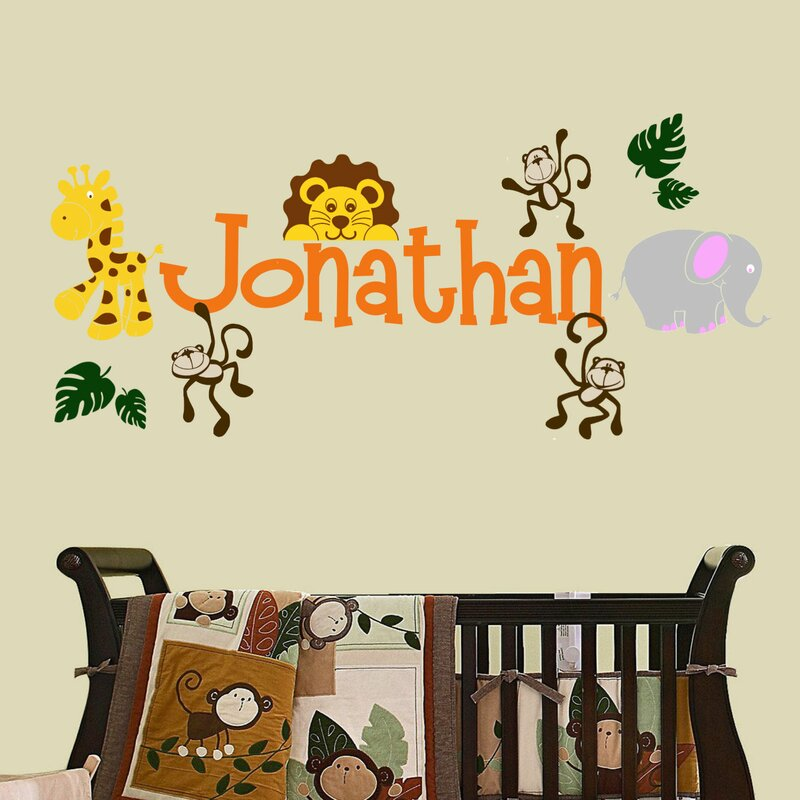 decalthewalls personalized jungle theme wall decal | wayfair