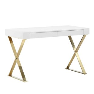 Champagne Gold Writing Desk Wayfair
