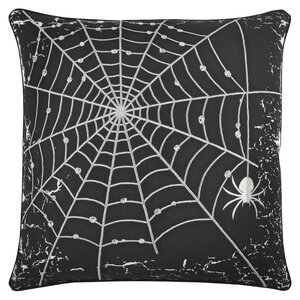 Holiday Spider Web 100% Cotton Throw Pillow