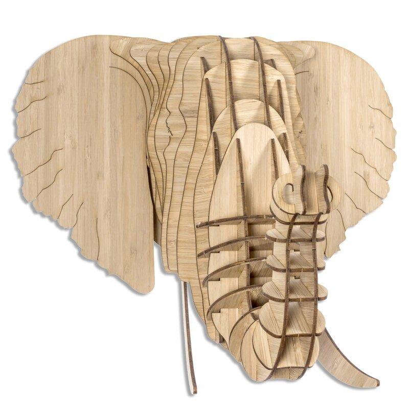 Antler Home Eyan the Bamboo Elephant Head Wall Décor & Reviews   Wayfair