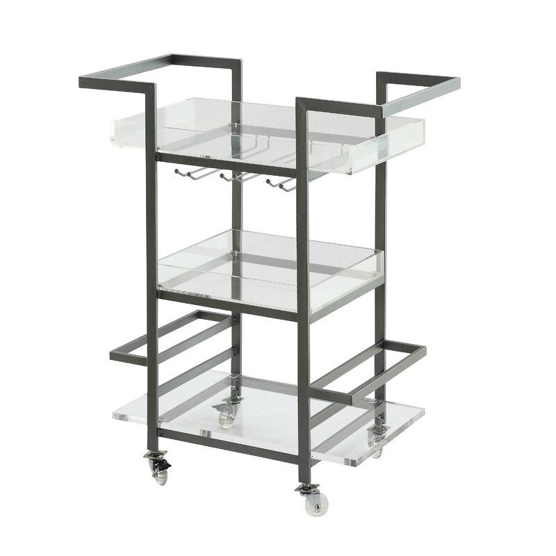 3 tier bar cart wine rack sloane tier bar cart reviews joss main
