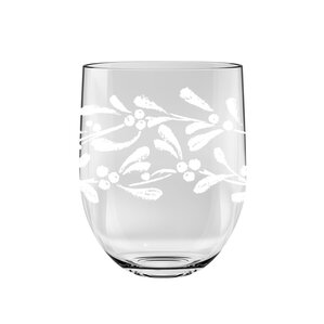 gather garland 16 oz stemless wine glass set of 6