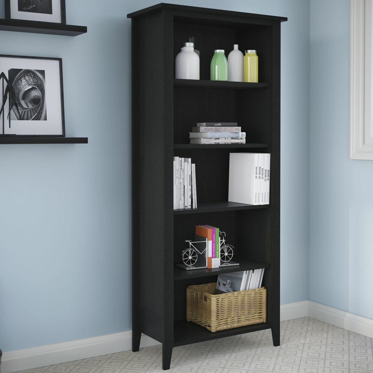 Kathy ireland home by bush furniture connecticut 5 shelf standard bookcase reviews wayfair