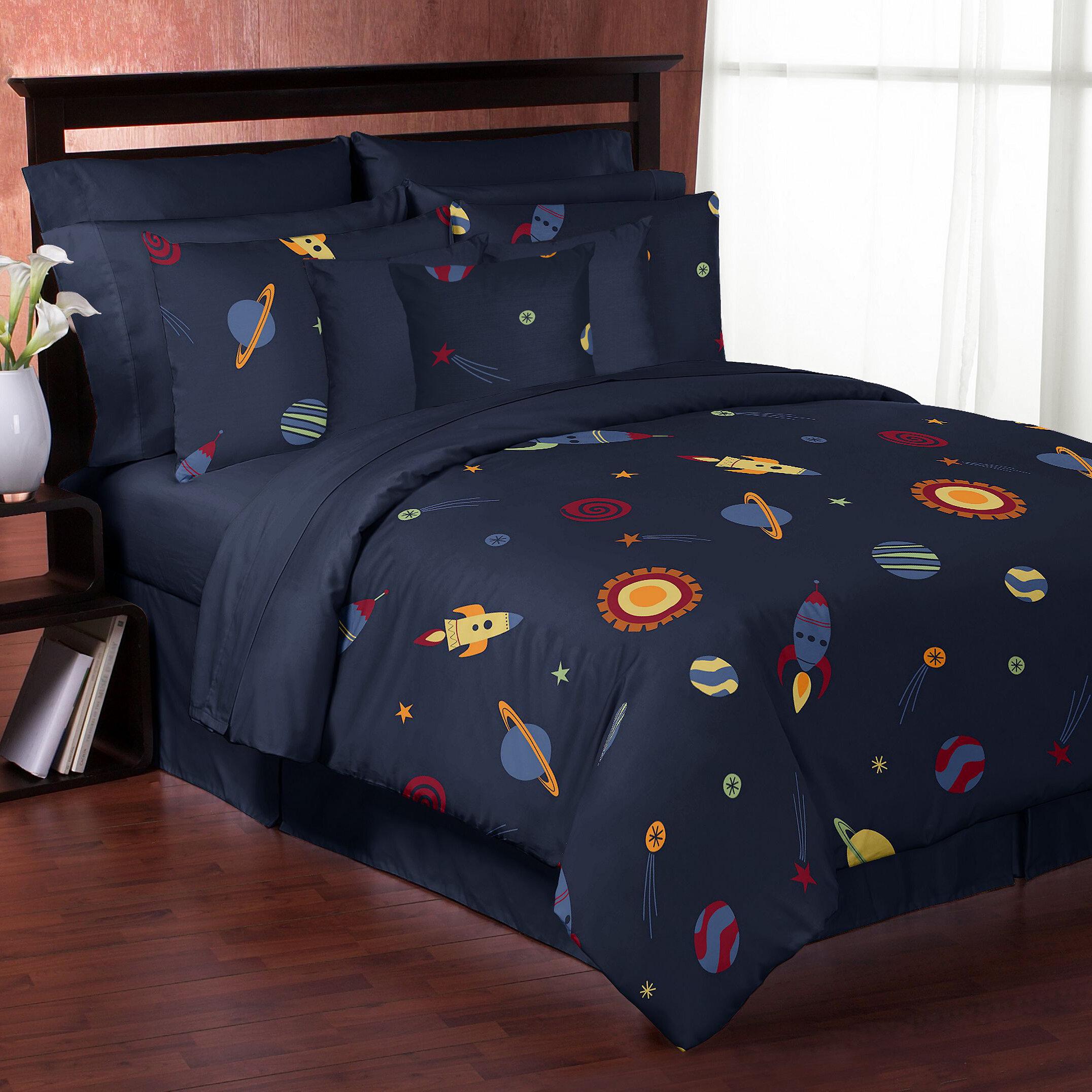 Very Sweet Jojo Designs Space Galaxy Comforter Set & Reviews | Wayfair EL88